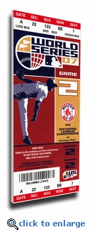2007 World Series Canvas Mega Ticket - Boston Red Sox