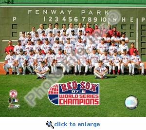 2007 World Series Red Sox Champion Team Photo 8x10 Photo