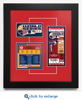 2007 World Series Replica Ticket & Patch Frame - Boston Red Sox