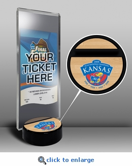 2008 Final Four Ticket Display Stand - Kansas Jayhawks