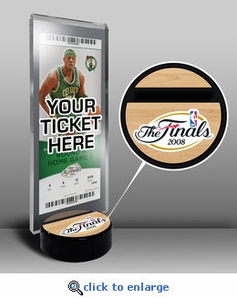2008 NBA Finals Ticket Display Stand - Celtics vs Lakers