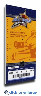2008 NHL All-Star Game Canvas Mega Ticket, Thrashers Host - MVP Staal