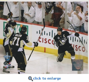 2008 NHL Stanley Cup Crosby Malkin Hossa 8x10 photo - Pittsburgh Penguins