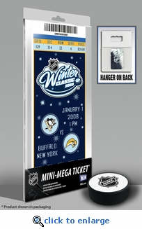 2008 NHL Winter Classic Commemorative Mini-Mega Ticket - Penguins vs Sabres