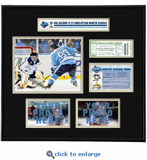 2008 NHL Winter Classic Ticket Frame - Penguins