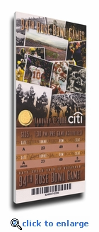 2008 Rose Bowl Canvas Mega Ticket - USC Trojans