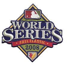 2008 World Series Embroidered Patch - Philadelphia Phillies vs Tampa Bay Rays