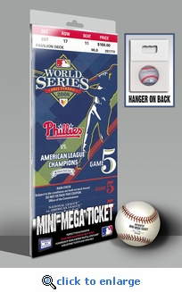 2008 World Series Mini-Mega Ticket - Philadelphia Phillies