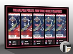 2008 World Series Tickets to History Canvas Print - Philadelphia Phillies