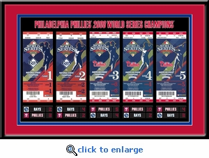 2008 World Series Tickets to History Framed Print - Philadelphia Phillies