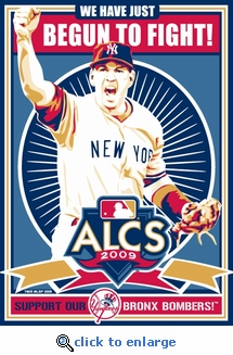 2009 ALCS - New York Yankees - Sports Propaganda Handmade LE Serigraph