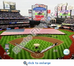 2009 Citi Field Inaugural Game National Anthem 8x10 Photo