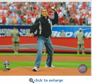 2009 MLB All-Star Game Barack Obama 8x10 Photo