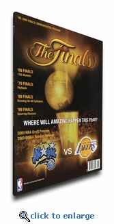 2009 NBA Finals Program Cover on Canvas - Los Angeles Lakers