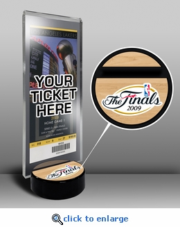 2009 NBA Finals Ticket Display Stand - Lakers vs Magic