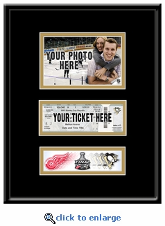 2009 NHL Stanley Cup 4x6 Photo Ticket Frame - Pittsburgh Penguins