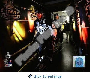 2009 NHL Stanley Cup Pittsburgh Penguins Crosby & Malkin Game 4 8x10 Photo