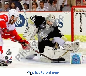 2009 NHL Stanley Cup Pittsburgh Penguins Fleury Game 6 8x10 Photo