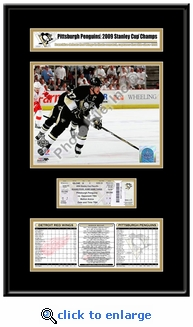 2009 NHL Stanley Cup Ticket Frame Jr - Penguins