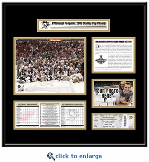 2009 NHL Stanley Cup Ticket Frame - Penguins
