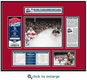 2009 NHL Winter Classic Ticket Frame - Blackhawks