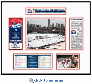 2009 NHL Winter Classic Ticket Frame - Red Wings