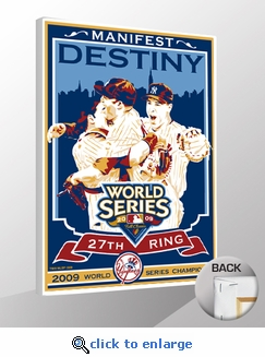2009 World Series Champions Sports Propaganda Canvas Print - New York Yankees