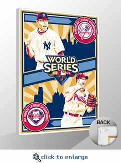 2009 World Series - Phillies vs Yankees - Sports Propaganda Canvas Print