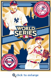 2009 World Series - Phillies vs Yankees - Sports Propaganda Handmade LE Serigraph