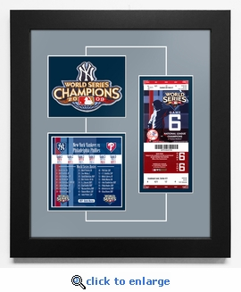 2009 World Series Replica Ticket & Patch Frame - New York Yankees