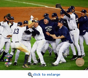 2009 World Series: Team Celebration 8x10 Photo - New York Yankees