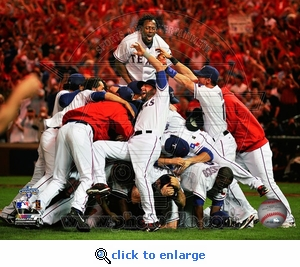 2010 ALCS: Texas Rangers Team Celebration