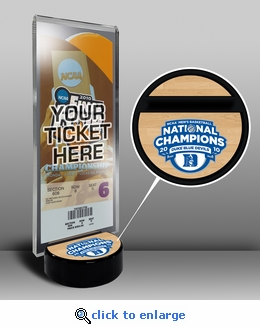 2010 Final Four Ticket Display Stand - Duke Blue Devils
