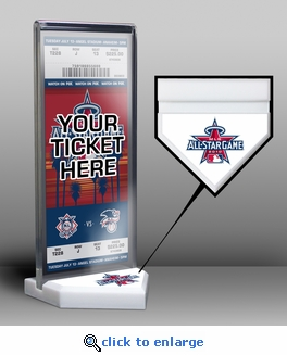 2010 MLB All-Star Game Home Plate Ticket Display Stand - Los Angeles Angels