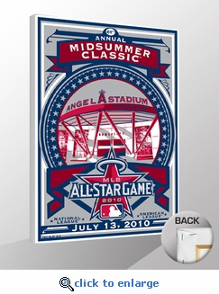 2010 MLB All-Star Game Sports Propaganda Canvas Print - Los Angeles Angels of Anaheim