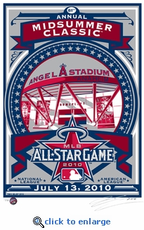 2010 MLB All-Star Game Sports Propaganda Handmade LE Serigraph - Los Angeles Angels of Anaheim