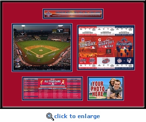 2010 MLB All-Star Game Ticket Strip Frame - Angels