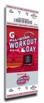 2010 MLB Home Run Derby Canvas Mega Ticket , Angels Host - Winner David Ortiz, Red Sox