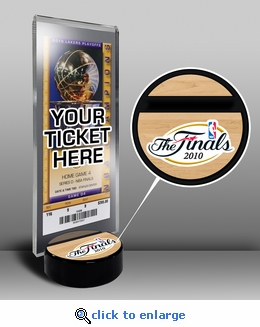 2010 NBA Finals Ticket Display Stand - Lakers vs Celtics