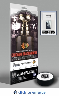 2010 NHL Stanley Cup Mini-Mega Ticket - Chicago Blackhawks