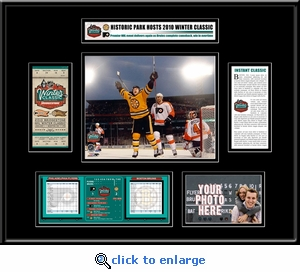 2010 NHL Winter Classic Ticket Frame - Flyers vs Bruins