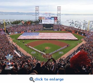 2010 World Series Game 1 Opening Ceremony 8x10 Photo