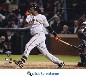 2010 World Series Game 5 MVP Edgar Renteria 8x10 Photo