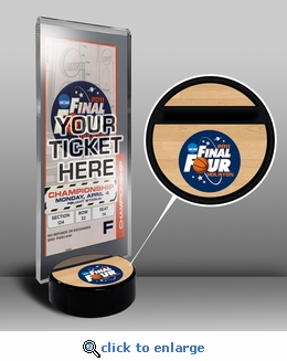 2011 Final Four Ticket Display Stand - Connecticut Huskies