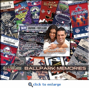 2011 MLB All-Star Game 8 x 8 Scrapbook - Ticket & Photo Album - Diamondbacks
