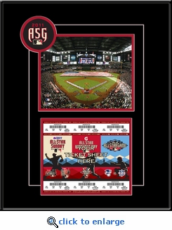 2011 MLB All-Star Game 8x10 Photo Ticket Strip Frame - Diamondbacks