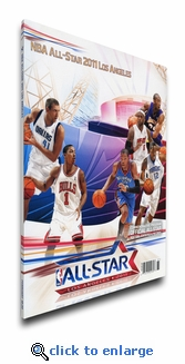 2011 NBA All-Star Game Program Cover on Canvas, Los Angeles Host, MVP Bryant, Lakers