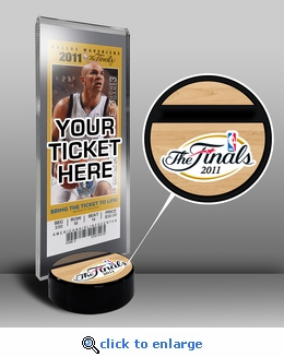 2011 NBA Finals Ticket Display Stand - Mavericks vs Heat
