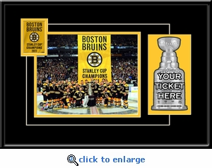 2011 NHL Stanley Cup Champions Banner Raising 8x10 Photo Ticket Frame - Boston Bruins