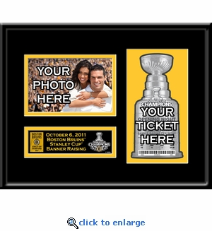 2011 NHL Stanley Cup Champions Banner Raising Your 4x6 Photo Ticket Frame - Boston Bruins